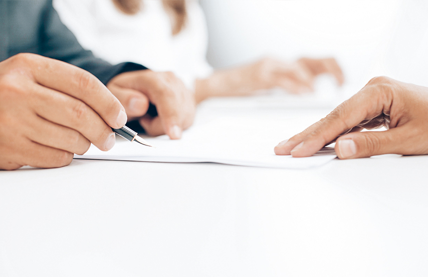 Divorce documents being signed